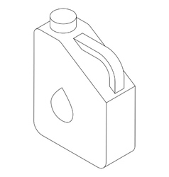 Jerry can icon isometric 3d style vector