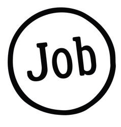 Job stamp on white vector