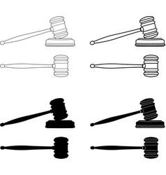 judges gavel vector image