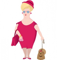 lady with dog vector image