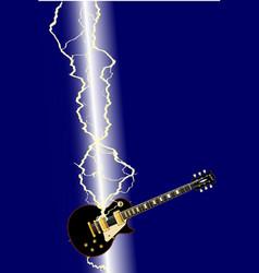 Lightning guitar vector