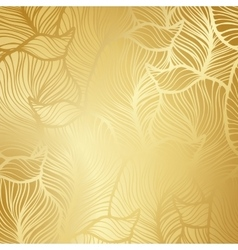 Luxury golden floral wallpaper vector