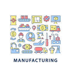 Manufacturing abstract color concept layout vector