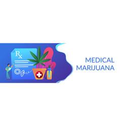 Medical marijuana concept banner header vector