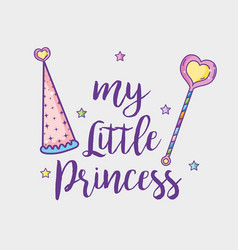 my little princess card vector image