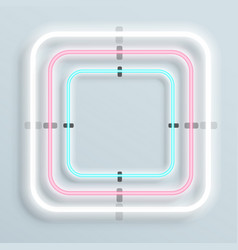 neon frame shape of square background vector image