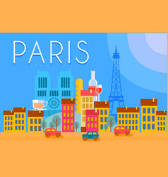 paris travel landmarks city architecture vector image