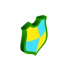 Protection shield concept icon isometric 3d style vector image
