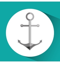 sea flat icon design vector image