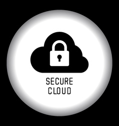 Secure Cloud Technology vector image