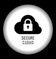 Secure Cloud Technology vector
