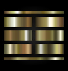 set gold gradients vector image