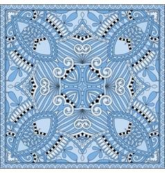 silk blue colour kerchief square pattern design vector image