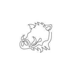single one line drawing ruthless common vector image