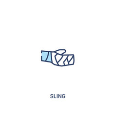 Sling concept 2 colored icon simple line element vector