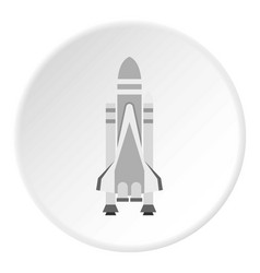 space shuttle icon circle vector image