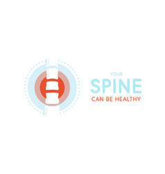 spine cure new technology clinic logo vector image