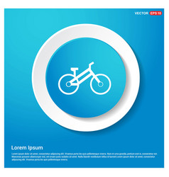 Sport bicycle icon abstract blue web sticker vector