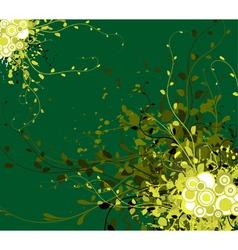 spring grunge floral vector image