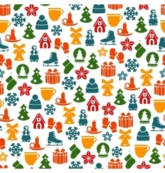 Stock pattern of winter and Christmas vector