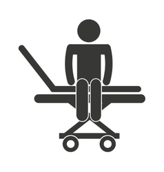 Stretcher hospital emergency icon vector