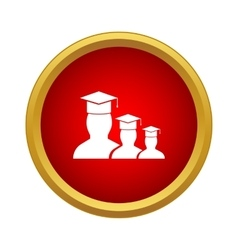Students icon simple style vector