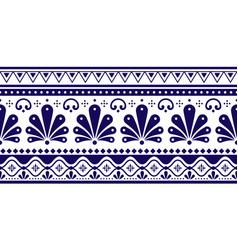 Talavera poblana seamless long pattern vector