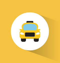 Taxi car transport tourism vacation vector