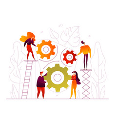 teamwork - modern flat design style colorful vector image