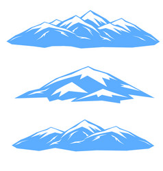 The set of blue ridges vector