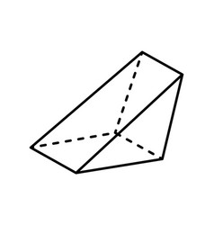 Triangular prism geometric figure gometry shape vector