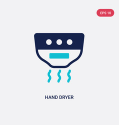 Two color hand dryer icon from hygiene concept vector