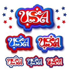 USA labels vector image
