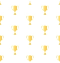 Winner cup trophy seamless pattern vector