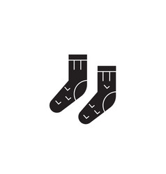 wool socks black concept icon wool socks vector image