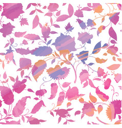 floral seamless pattern flower watercolor vector image