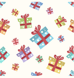 gift boxes seamless pattern vector image vector image