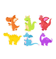 set of colorful funny vector image vector image