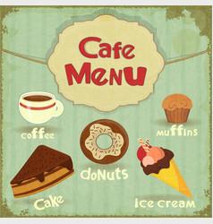 Vintage Cafe Menu vector image