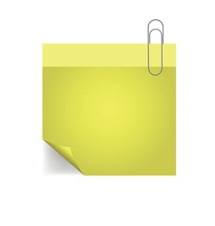 yellow note with pin vector image