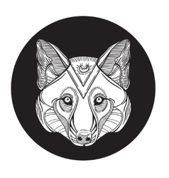 Animal wolf head print for adult anti stress vector image