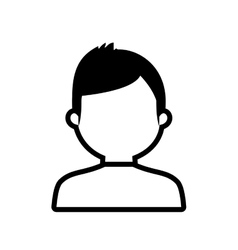avatar man online web profile outline vector image