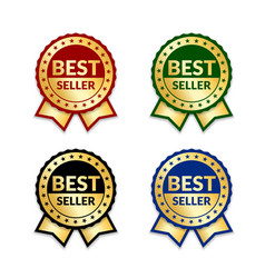 award ribbon the best seller vector image vector image