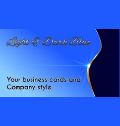 business cards and company style vector image