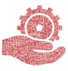 development service fabric textured icon vector image
