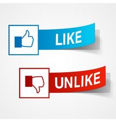 like and unlike symbols vector image