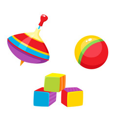 Toys - ball cubic blocks whirligig toy vector