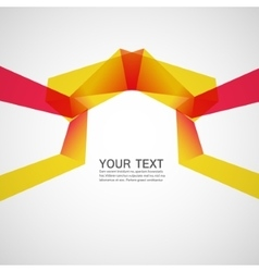 abstract bright ribbons on a white background vector image