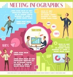 business meeting infographic set vector image