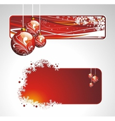 christmas collection with banners vector image vector image